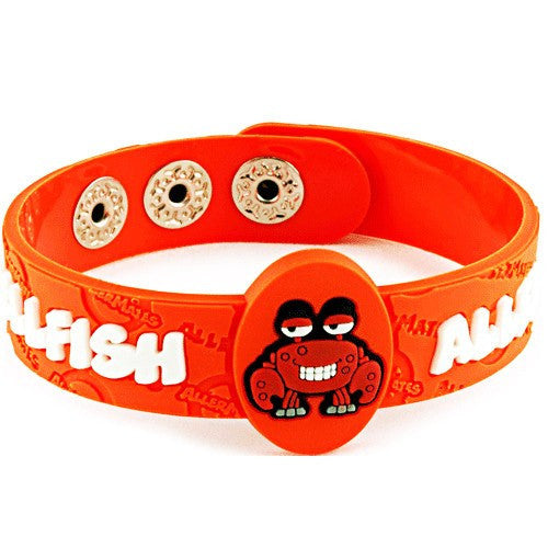 AllerMates Crabby Shellfish Allergy Alert Wristband - Allergy Relief - Mountainside Medical Equipment