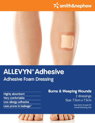 Buy 10-Pack Allevyn Adhesive Dressings online used to treat Foam Wound Care Dressing - Medical Conditions