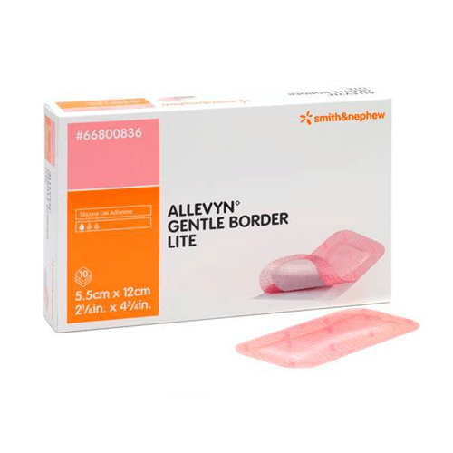 10-Pack Allevyn Gentle Border Lite Dressings for Foam Dressings by Smith & Nephew | Medical Supplies