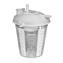 Allied Schuco Disposable Suction Canister 800cc, Plastic for Suction Canisters by Allied Healthcare | Medical Supplies