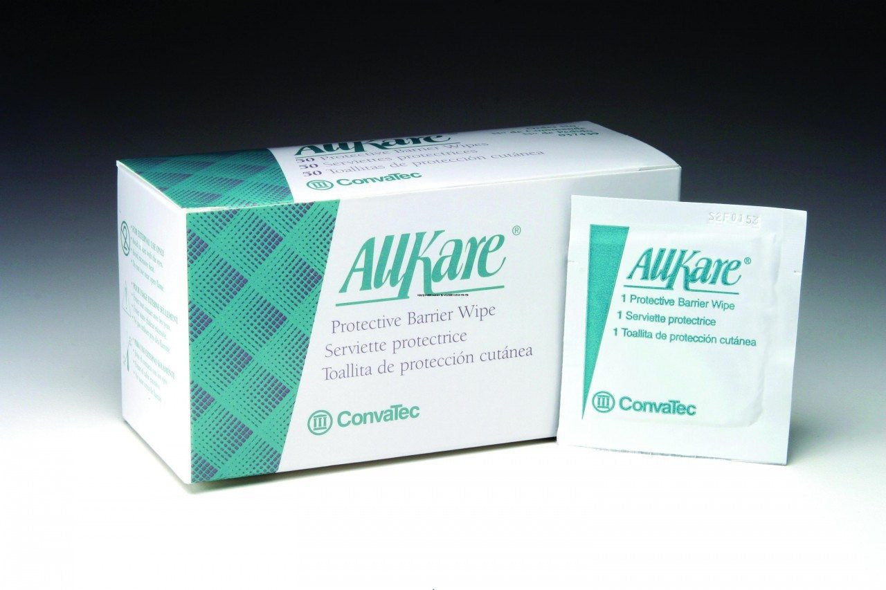 AllKare Protective Skin Barrier Wipes, 50 box for Ostomy Supplies by Convatec | Medical Supplies