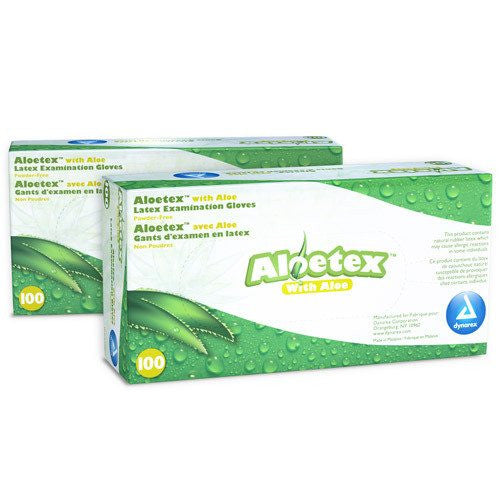 Altolex Aloe Latex Gloves, Powder Free 100/Box, 10/Case
