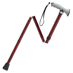 Aluminum Folding Cane with Gel Hand Grip for Canes by Drive Medical | Medical Supplies