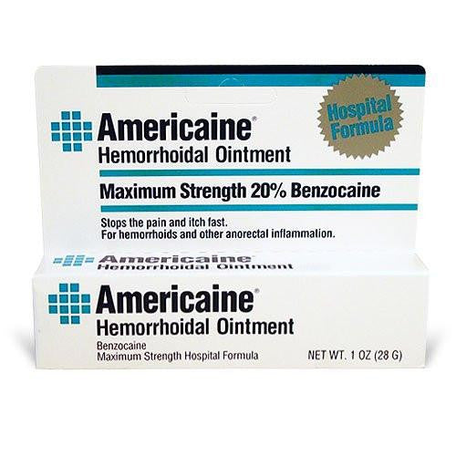 Americaine Hemorrhoidal Ointment 1 oz - Hemorrhoidal Relief - Mountainside Medical Equipment