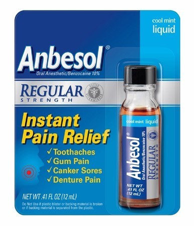 Buy Anbesol Liquid Oral Pain Reliever Cool Mint online used to treat Cold Sores - Medical Conditions