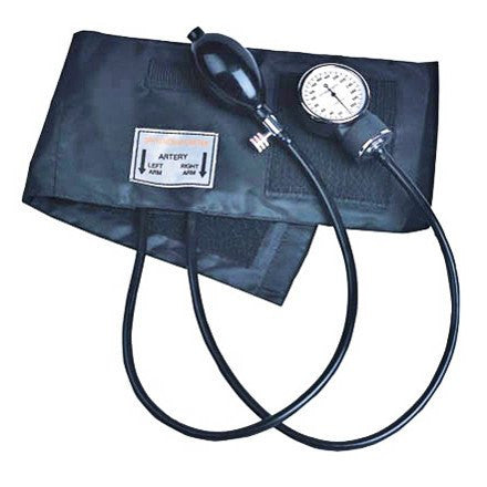 Manual Blood Pressure Aneroid Sphygmomanometer Unit with Cuff for Blood Pressure Monitors by Dynarex | Medical Supplies