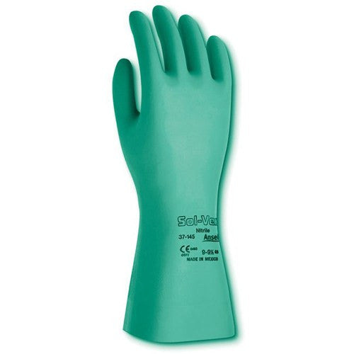Ansell Sol-Vex Chemical Resistant Nitrile Gloves 12/Pack