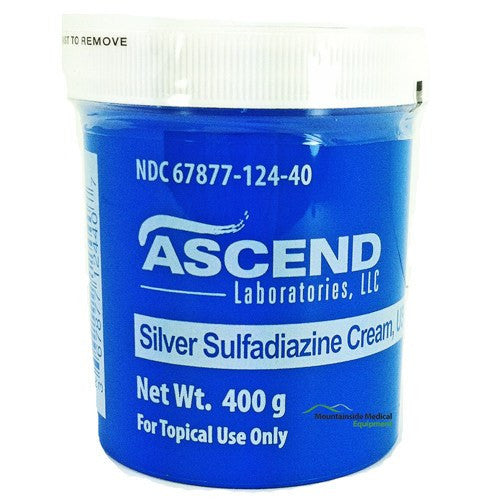 Ascend Silver Sulfadiazine Cream 1% Jar 400 Grams - Silver Sulfadiazine Cream - Mountainside Medical Equipment