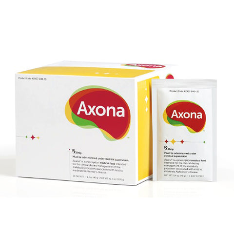 Axona Powder Medical Food Packets Alzheimer's Disease Dementia Dietary Supplement Memory Recall Brain Function Preserve