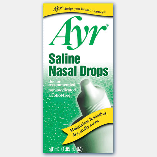 Buy Ayr Saline Nasal Drops, 50 ml online used to treat Nose - Medical Conditions
