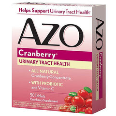 AZO Cranberry Supplement 50 Caplets for Urinary Tract Infection by I-Health | Medical Supplies