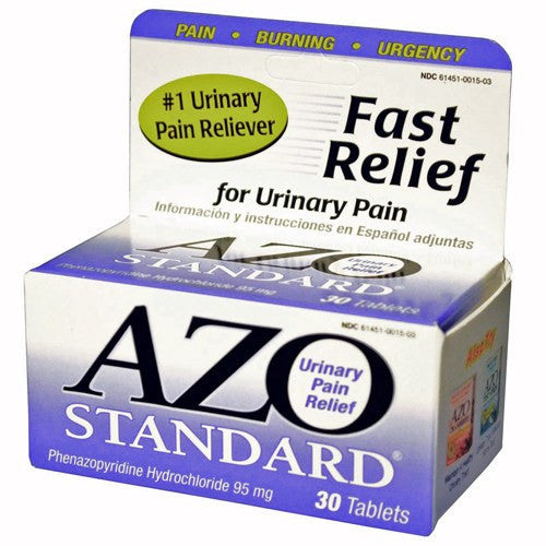 Buy AZO Standard Urinary Pain Relief Tablets 95 mg by I-Health | Home Medical Supplies Online