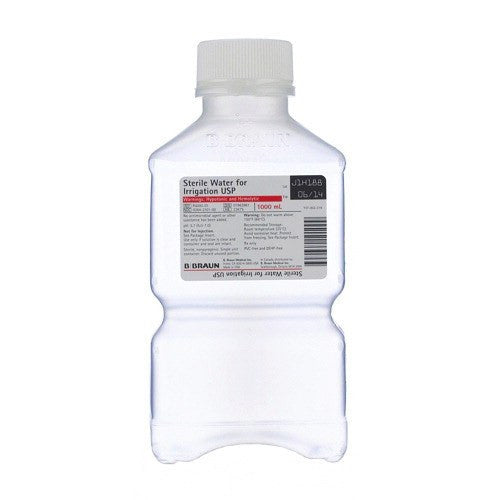 Sterile Water for Irrigation 1000 mL Bottle for Irrigation Solution by B Braun | Medical Supplies