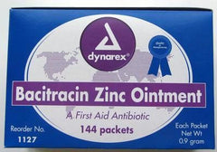 Buy Bacitracin Zinc Antibiotic Ointment Packets,144/Box by Dynarex wholesale bulk | First Aid Antibiotic