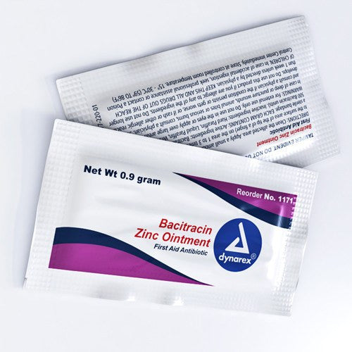 Bacitracin Zinc Antibiotic Ointment Packets,144/Box for Creams and Ointments by Dynarex | Medical Supplies
