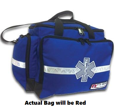 EMS Trauma Bag Kit with Supplies, Red - First Aid Supplies - Mountainside Medical Equipment