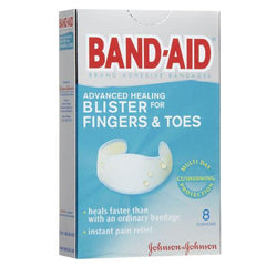 Buy Band-Aid Advanced Healing Blister for Fingers & Toes 8 Pack by DOT Unilever | SDVOSB - Mountainside Medical Equipment