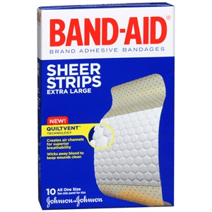 Buy Band-Aid Extra Large Sheer Bandages online used to treat Adhesive Bandages - Medical Conditions