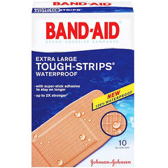Buy Band-Aid Bandages Tough-Strips Extra Large online used to treat Adhesive Bandages - Medical Conditions