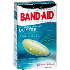 Band-Aid Advanced Healing Blister Bandages - 6 Count for Adhesive Bandages by Johnson & Johnson | Medical Supplies