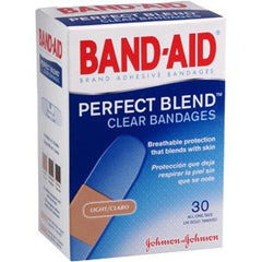 Buy Band-Aid Clear Bandage Perfect Blend - 30 Count by Johnson & Johnson wholesale bulk | Adhesive Bandages