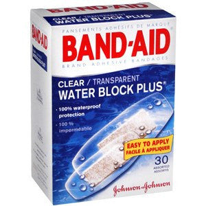 Band-Aid Clear Water Block Waterproof Adhesive Bandages - 30 Count