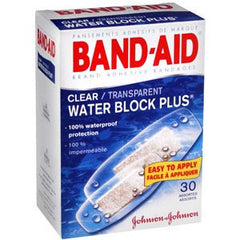 Buy Band-Aid Clear Water Block Waterproof Adhesive Bandages - 30 Count online used to treat Adhesive Bandages - Medical Conditions