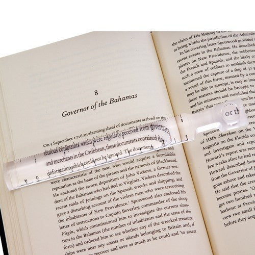 Buy Bar Magnifier Ruler For Reading by Essential from a SDVOSB | Daily Living Aids
