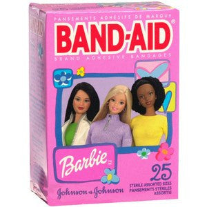 Buy Barbie Band-Aids Assorted Sizes - 25 Count by Johnson & Johnson | Adhesive Bandages