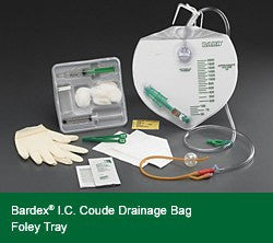 Bardex I.C. Complete Foley Tray w/ Drainage Bag, Coude Catheter