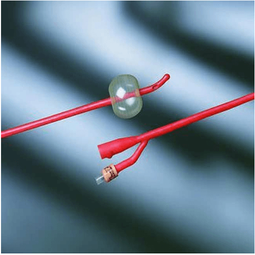 Bardex Red Rubber Silver Hydrogel Catheter