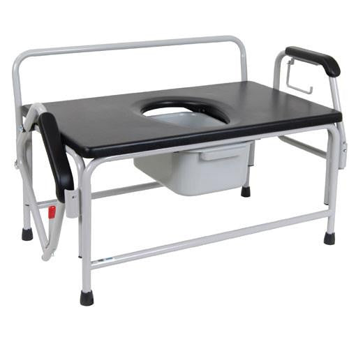 Bariatric Extra Large Drop Arm Commode - Bariatric Commodes - Mountainside Medical Equipment