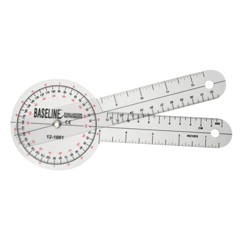 Transparent Measuring Goniometer with 360 Degree Head - Physical Therapy - Mountainside Medical Equipment