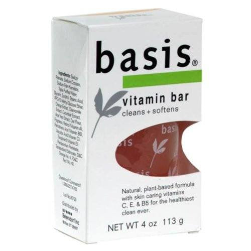 Basis Vitamin Bar Soap 4 oz for Skin Care by Basis | Medical Supplies