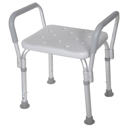 Bath Bench with Removable Padded Arms - Bath Benches - Mountainside Medical Equipment