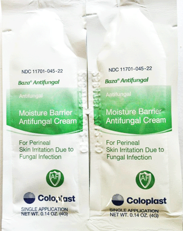 Buy Baza Antifungal Moisture Barrier 4 gram Packets, 300/box by Coloplast Corporation online | Mountainside Medical Equipment