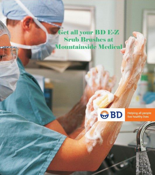 BD E-Z Scrub Brush 160 with No Detergent - 30 Each - Surgical Skin Preparation - Mountainside Medical Equipment