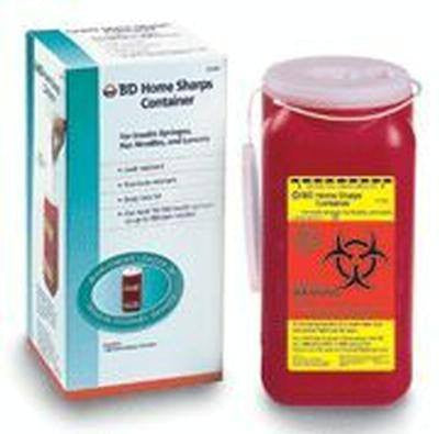 Buy Home Sharps Container 1.4 Quart by BD from a SDVOSB | Sharps Containers