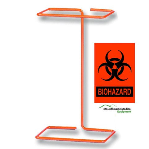 Buy Biohazard Benchtop Wire Bag Holder by Bel-Art Products from a SDVOSB | Isolation Supplies