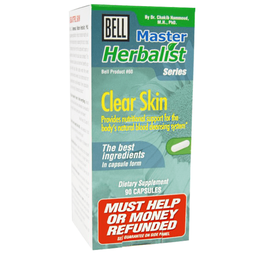 Buy Bell Lifestyle Master Herbalist Series for Clear Skin 90 Capsules online used to treat Acne - Medical Conditions