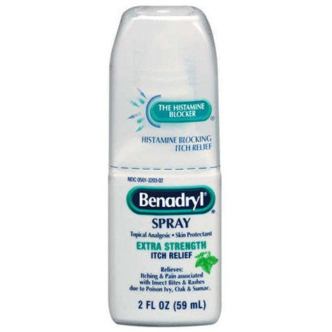 Buy Benadryl Extra Strength Itch Relief Spray, 2 oz by DOT Unilever | Home Medical Supplies Online