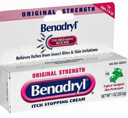 Buy Benadryl Original Strength Itch Relief Cream 1 oz by Johnson & Johnson | Creams and Ointments