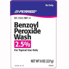 Buy Benzoyl Peroxide 2.5% Acne Wash 8 oz by BioComp Pharma online | Mountainside Medical Equipment