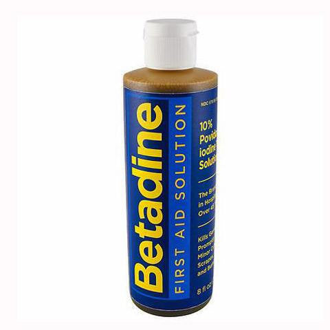 Betadine Antiseptic Solution 8 oz for Surgical Skin Preparation by Purdue Pharma | Medical Supplies