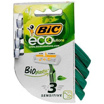 BIC Ecolutions Disposable Razors, 4 Pack for Razors by BIC | Medical Supplies