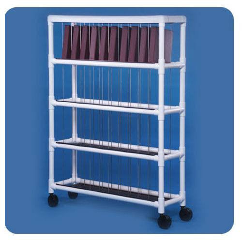 PVC Chart Storage Racks - Medical Storage Rack - Mountainside Medical Equipment