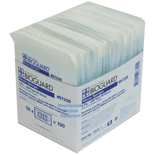 Bioguard Gauze Sponges Sterile, 2's, 12-ply - Gauze Pads - Mountainside Medical Equipment