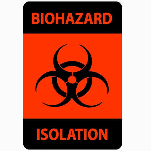 Biohazard Isolation Adhesive Labels 500/Roll - Isolation Supplies - Mountainside Medical Equipment