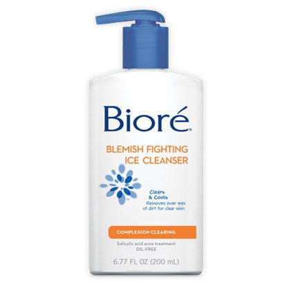 Biore Blemish Fighting Ice Cleanser 6.7 oz Pump Bottle