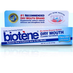 Buy Biotene Dry Mouth Toothpaste, Original Fresh Mint by GlaxoSmithKline | SDVOSB - Mountainside Medical Equipment